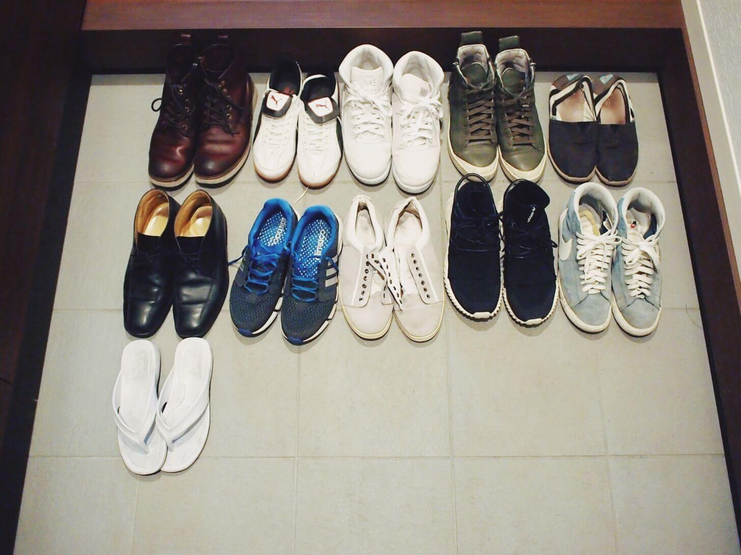 靴の断捨離(2018年2月5日)
